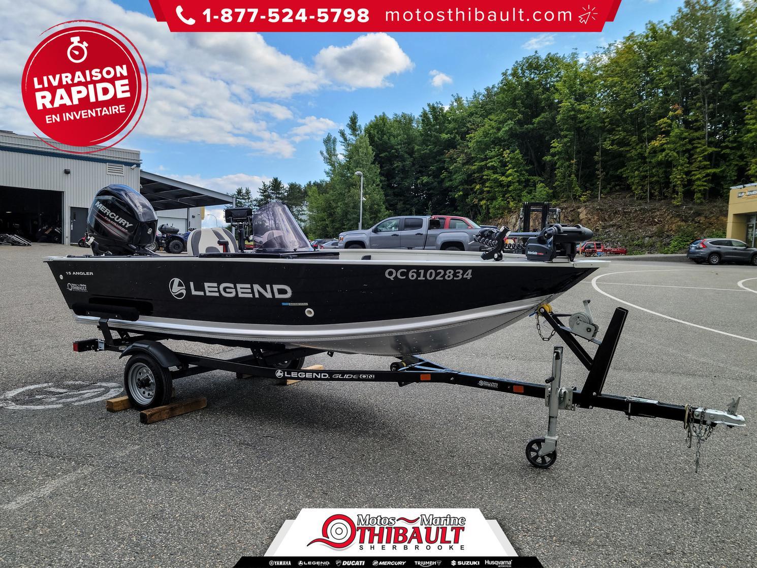 Legend 15 ANGLER SC 2018 - Ensemble bateau & Mercury 50