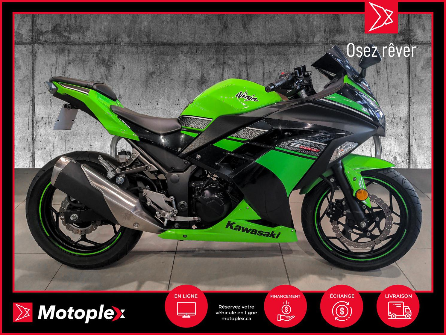 2013 Kawasaki NINJA 300 SE 35$/semaine