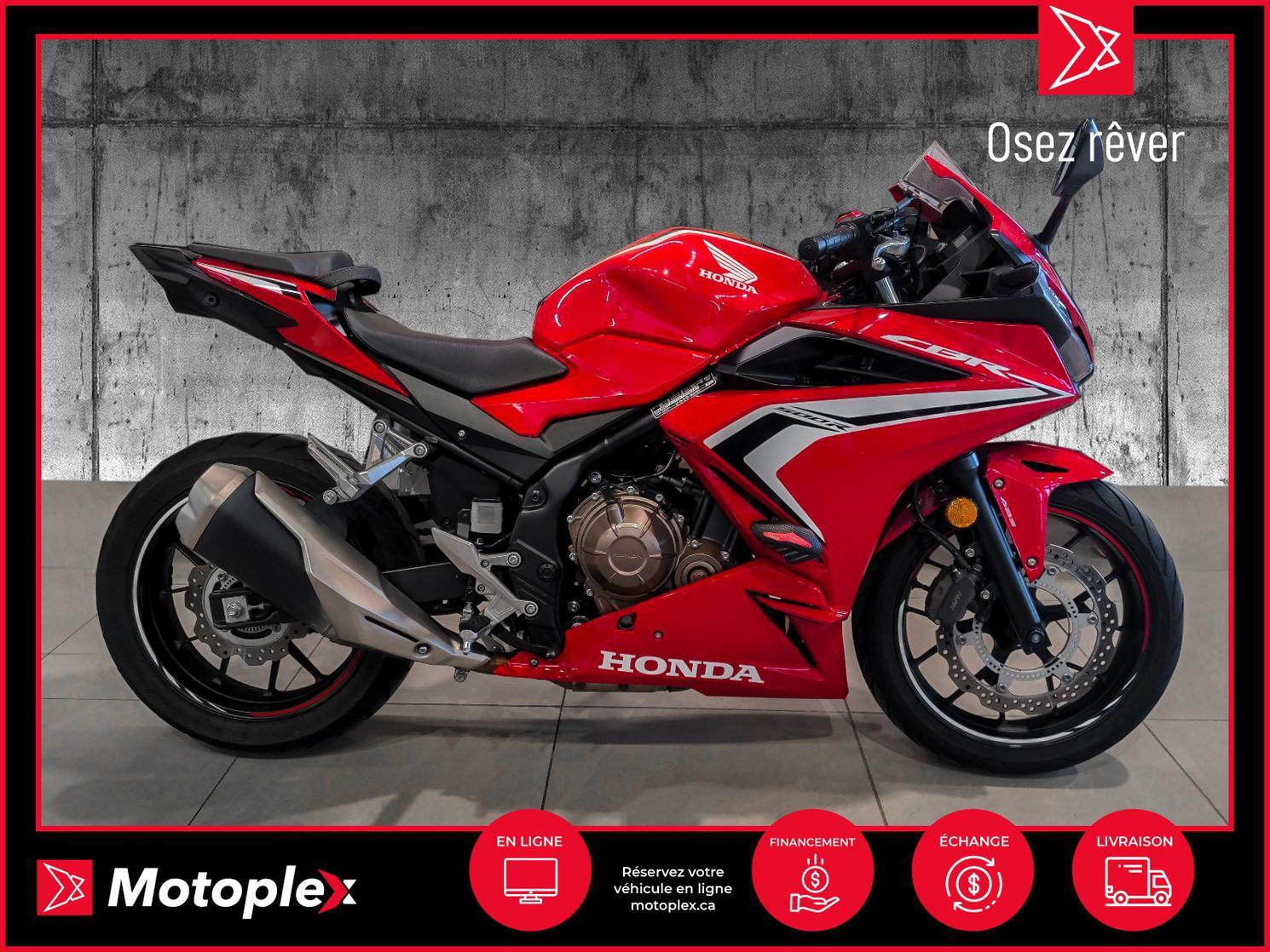 2019 Honda CBR 500 28$/semaine
