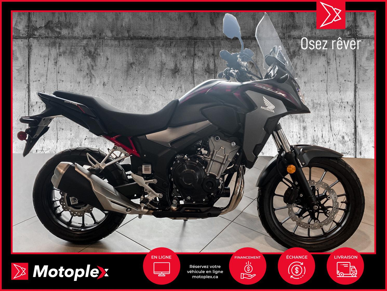 2021 Honda CBX 500 38$/semaine