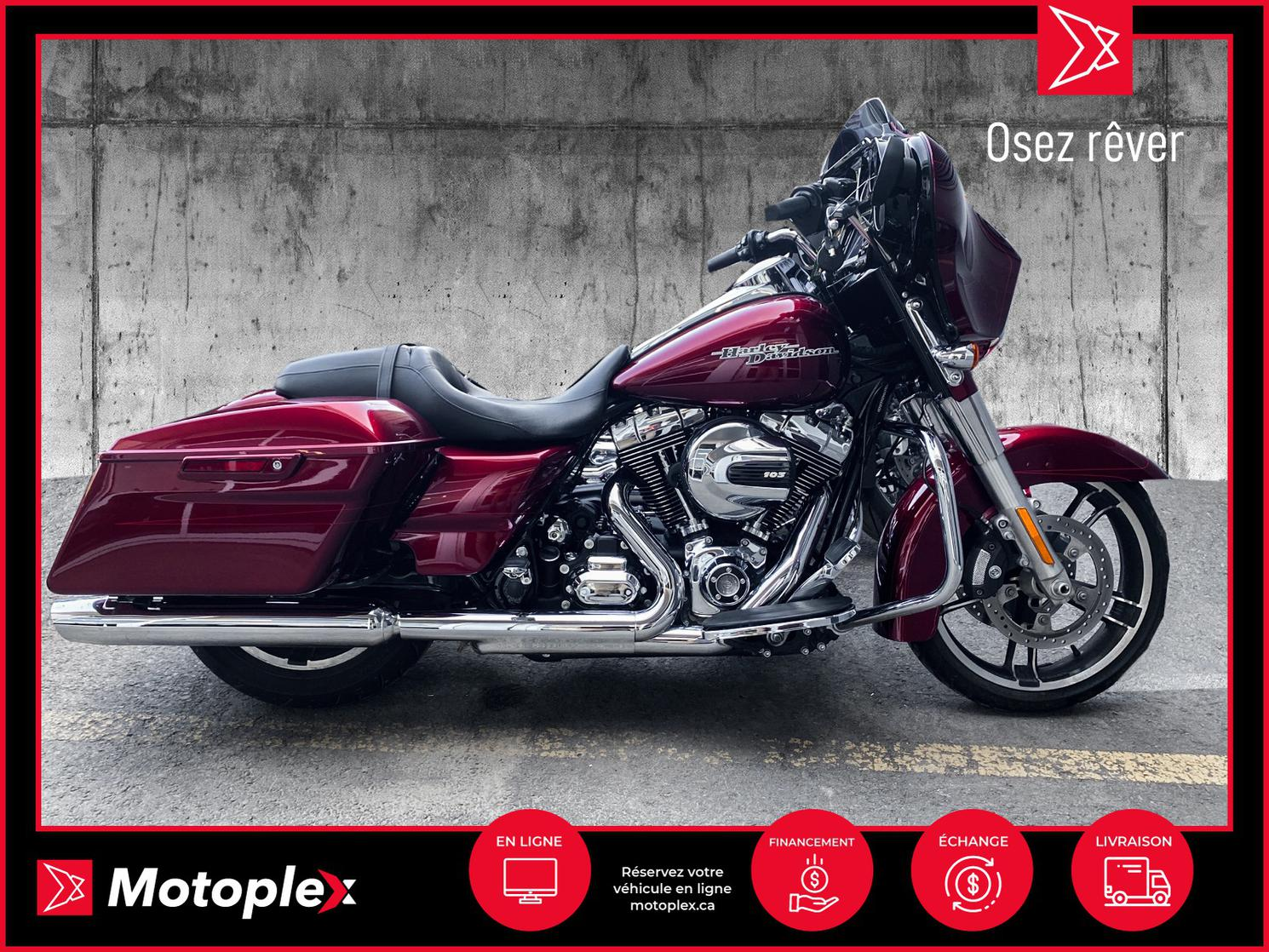 2016 Harley-Davidson STREET-GLIDE FLHXS 103 PC 68$/semaine