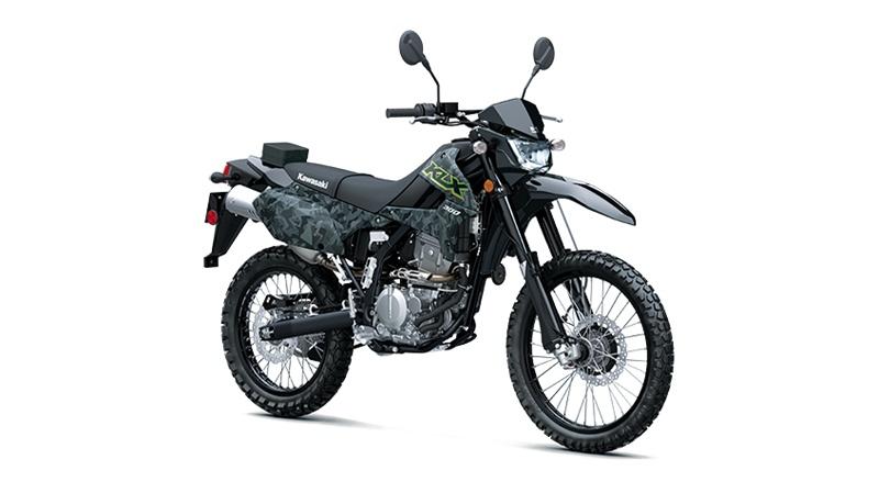 2021 Kawasaki KLX300 CAMOUFLAGE GRIS FRAGMENTÉ