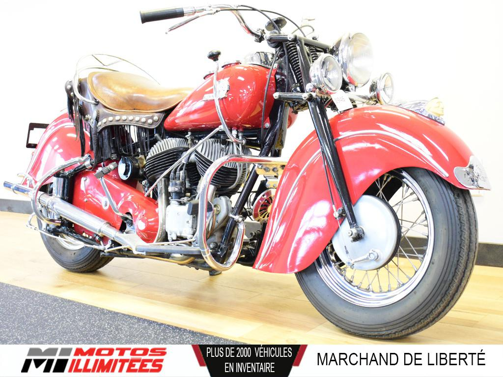 1946 Indian Motorcycles Chief 74ci - Frais inclus+Taxes. Modèle rare.