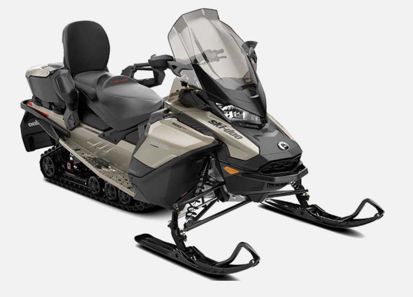 "2022 Ski-Doo Grand Touring Limited Luxury Pkg 900 ACE Turbo R Silent Ice Track II 1.25"" E.S.  w/ Premium color display"