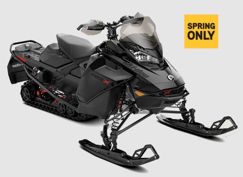 "2022 Ski-Doo MXZ X ROTAX 850 E-TEC - MXZ X 850 E-TEC RipSaw 1.25"" E.S. w/ Adj Pkg w/ Premium color display"