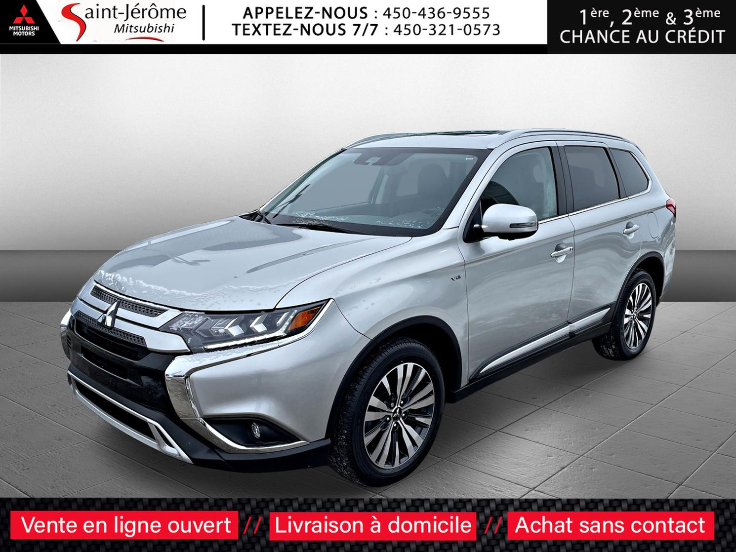 Mitsubishi Outlander GT S-AWC TOÎT OUVRANT + CUIR + CAMÉRA 360 + MAGS 18 PO +++ 2020