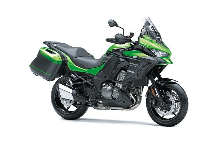 2022 Kawasaki VERSYS 1000 LT Candy Lime Green / Metallic Spark Black