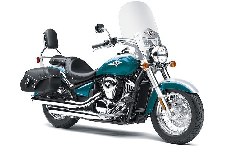 Kawasaki VULCAN 900 CLASSIC LT Blanc Robotique Perle / Bleu Nocturne Perle 2022