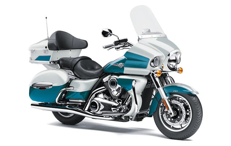 2022 Kawasaki VULCAN 1700 VOYAGER Pearl Robotic White / Pearl Nightshade Teal